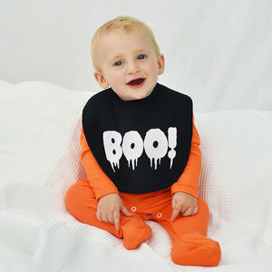 'Boo!' Halloween Baby Bib - baby & child sale
