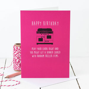 Birthday Card 'Play Your Cards Right…'