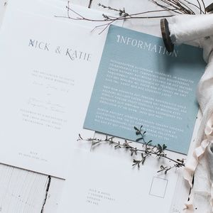 Tell Tale Wedding Invitation Set