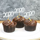 2020 New Year Party Cup Cake Toppers