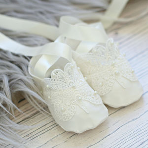 Christening Booties Ariana - christening wear