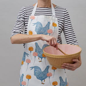 Chicken And Carnation Apron