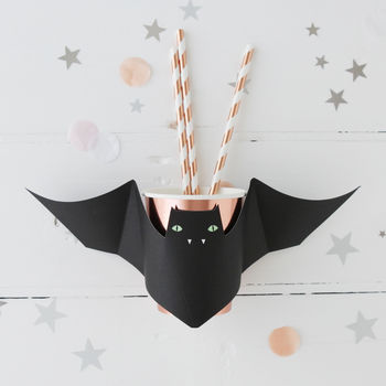Halloween Rose Gold Bat Party Cups