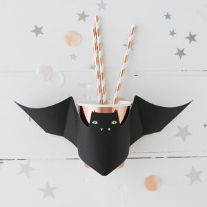 Halloween Rose Gold Bat Party Cups - party decorations
