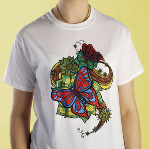 Blissful Butterfly Colouring In T Shirt - tops & t-shirts