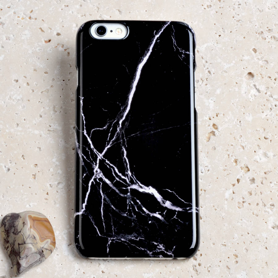 Black Marble iPhone And Samsung Phone Case