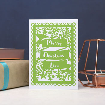 Personalised Christmas Banner Printed Card