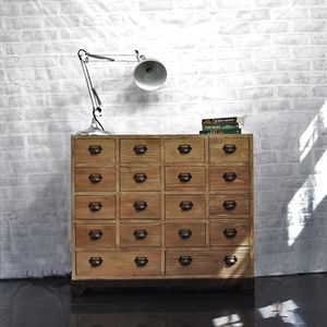 18 Drawer Apothecary Cabinet - bedroom
