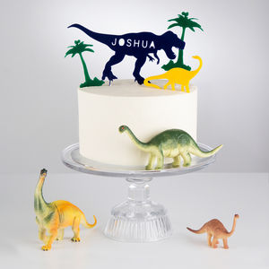 Personalised Dinosaur Cake Topper Scene - decoration