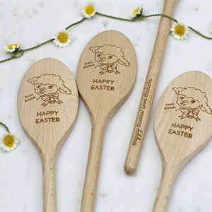 Happy Easter Message Spoon - kitchen accessories