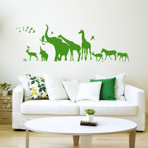 Safari Walk Animal Wall Sticker - new lines added