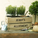 Personalised Grow Your Own Allotment Crate