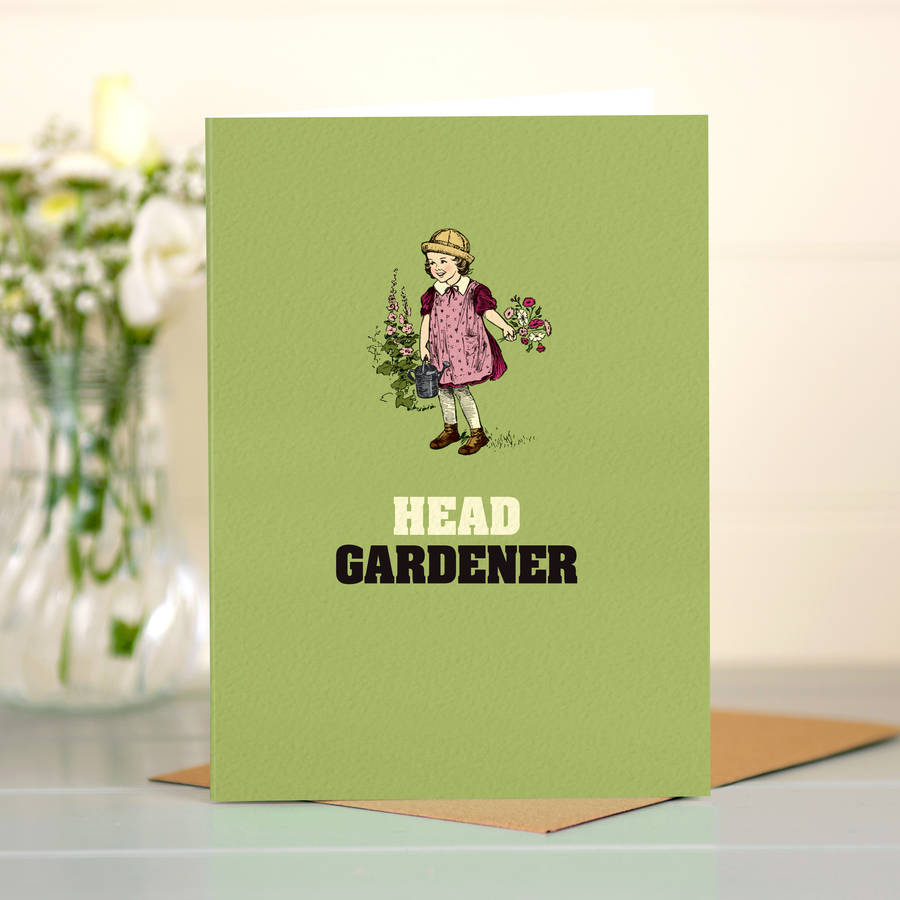 Card For Her Head Gardener