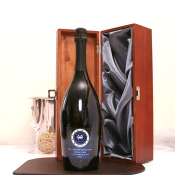 Personalised Magnum Prosecco Gift With Zodiac Design