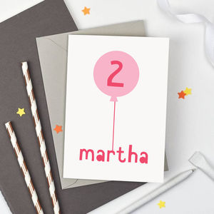Personalised Birthday Balloon Card - shop by category