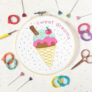 Ice Cream Embroidery Craft Kit