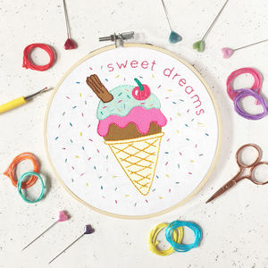 Ice Cream Embroidery Craft Kit - new in baby & child