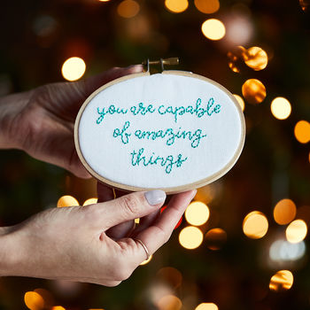Amazing Things Mini Motivator Embroidery Kit