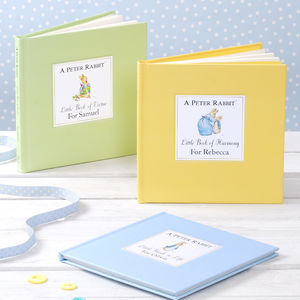 A Collection Of Three Personalised Peter Rabbit Books - christening gifts