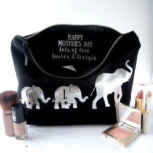 Personalised Mummy Elephant Toiletry Bag