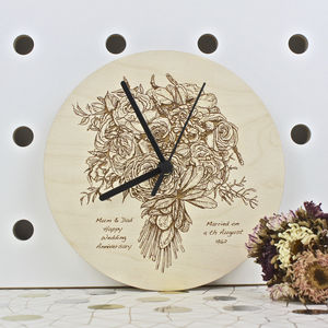 Wedding Anniversary Clock - decorative accessories