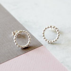Silver Circle Bubble Earrings