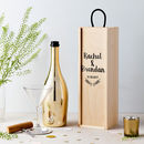Personalised Wedding Wooden Bottle Gift Box