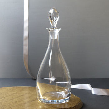 Crystal Glass Teardrop Decanter