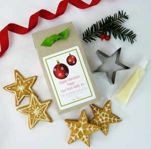 Personalised Christmas Biscuit Kit, Cutter And Icing - creative activities