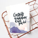 Funny Congratulations Card 'Congrats On Whatever'