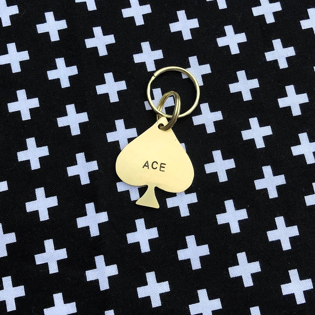 Ace Of Spades Dog ID Tag