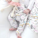Personalised Unicorn Organic Children's Leggings