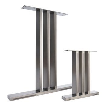 Two Dining Pedestals In Industrial Steel I Beam Design