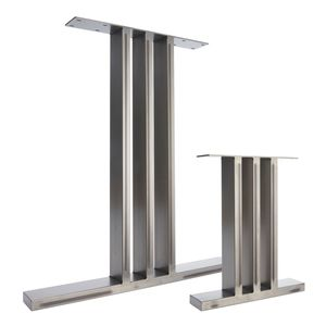 Two Dining Pedestals In Industrial Steel I Beam Design - furniture