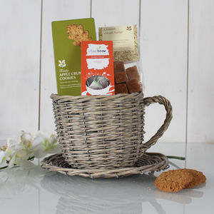 Time For Tea Tea Cup Planter Gift - cakes & sweet treats