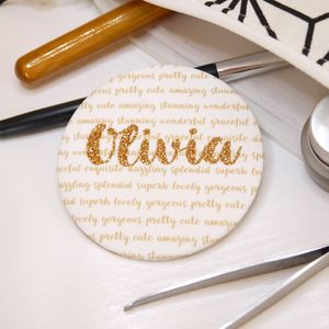 Personalised Glitter Pocket Mirror - gifts for her