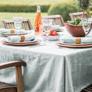 Duck Egg Linen Tablecloth With Mitered Hem