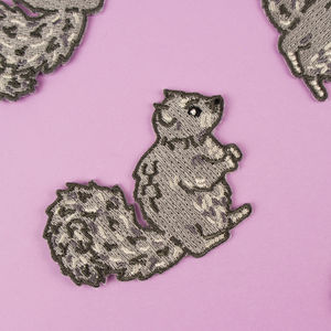 Squirrel Embroidered Patch - baby & child sale