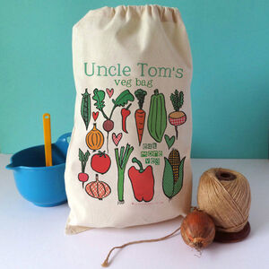 Personalised Reusable Cotton Produce Bag