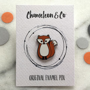 Fox Enamel Pin - children's accessories