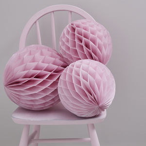 Pink Honeycomb Balls Hanging Decorations - outdoor decorations