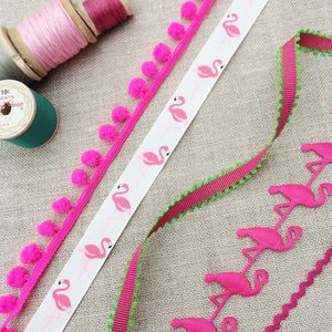 Tropical Flamingo Ribbon Collection - sewing & knitting