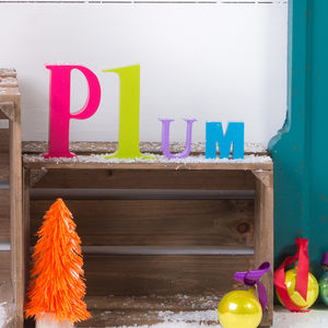 Mixed Bright Wooden Letters