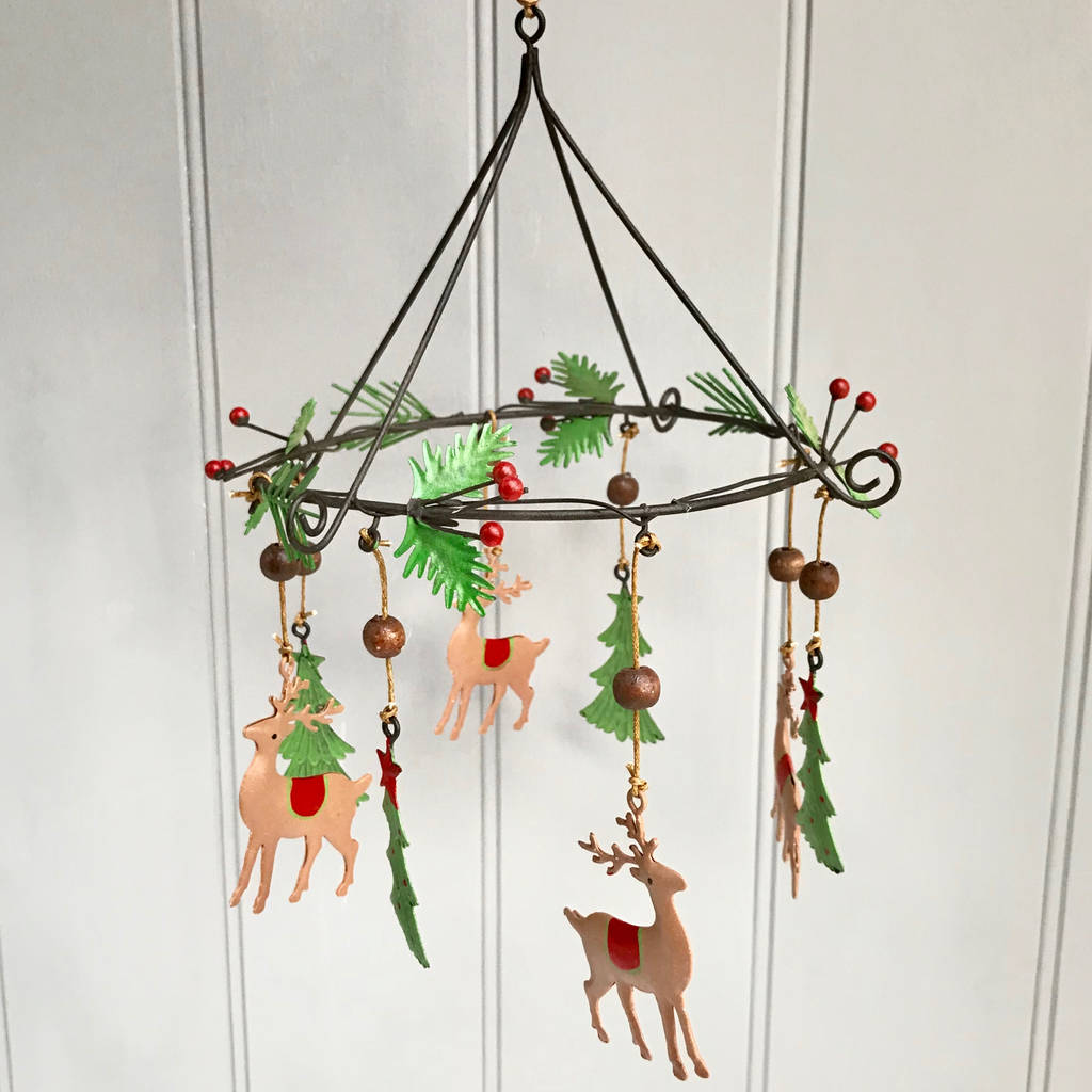 Christmas Decoration With Reindeers