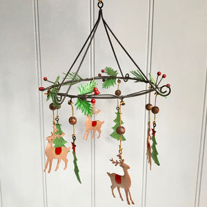 Christmas Decoration With Reindeers - christmas parties & entertaining