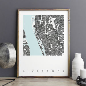 Liverpool Map Art Print Limited Editon