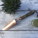 Personalised Copper Plated Garden Trowel