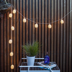 Rattan Lantern Solar Fairy Lights - lights & lanterns