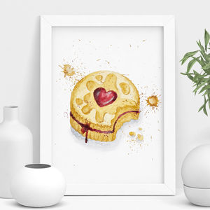 Jammy Dodger Mixed Media Print - still life