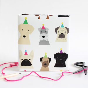 Dog Party Wrap - ribbon & wrap